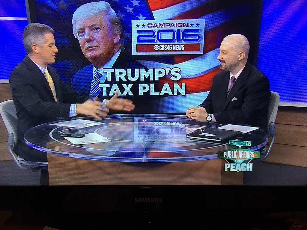 President Trump's Campaign 2016 Tax Plan – CBS Interview
